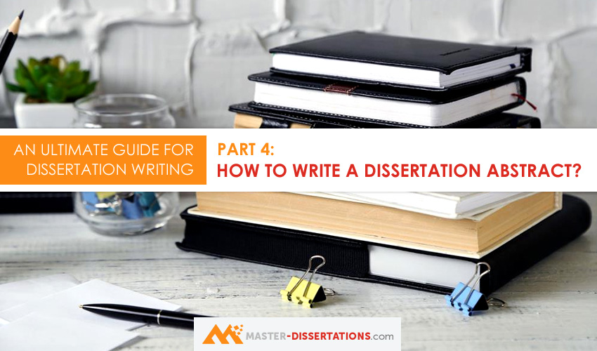 Dissertation abstracts online how to write