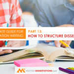 How to structure a dissertation?