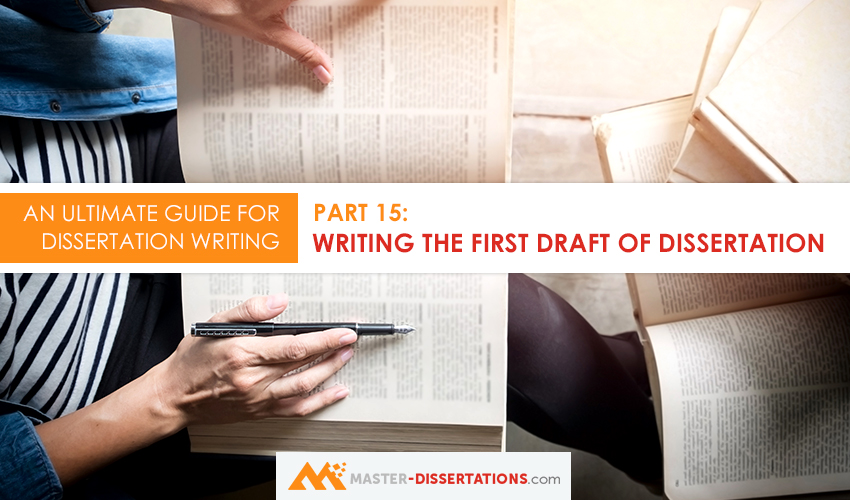 how to write dissertation draft